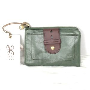 HOBO Green Leather Small Wallet Vintage Line